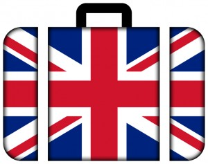 Briefcase Decorated with the Union Jack